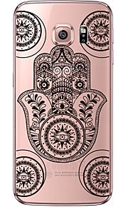 назад Ультра-тонкий / Бисквитный Мандала шаблон TPU Мягкий soft Ultra-thin Transparent Для крышки случая Samsung GalaxyS7 edge / S7 / S6