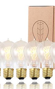 GMY 6pcs a19 edison lâmpada do vintage lâmpada 60w e26 / e27 decorar lâmpada