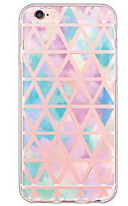 patrón de mosaico geométrico de la cubierta TPU vuelta suave translúcido ultrafino para el iPhone de Apple 6s 6 Plus SE / 5s / 5