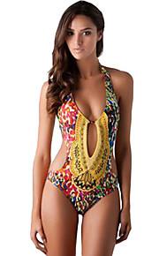 Women Sexy Tight Floral Bikini Swimsuit