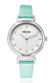 kezzi  delicacy lady quartz leather watch  1420