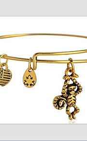 damemode gyldne dejlige dyr mønster kobber armbånd