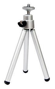 mini-tripé de plástico tripé tubos de secção da cabeça de alumínio de liga de alumínio de desktop pequena telemóvel tripé de câmera