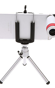 telescópio telemóvel 8 vezes a visualização outdoor telescópio monocular de visão noturna com grampo universal tripé