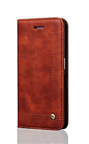 כל הגוף ארנק / מחזיק כרטיסים / עם מעמד / לְהַעִיף / מגנטי צבע אחיד עור אמיתי קשיח Case כיסוי Samsung Galaxy S7 edge / S7