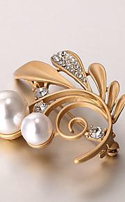 europæiske og amerikanske mode zircon perle broche serie 010