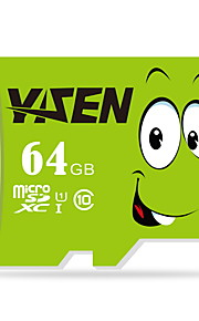 Yisen 64gb UHS-I U1 / clase 10 microSD / microSDHC / microSDXC / tfmax leer speed80 (MB / s)