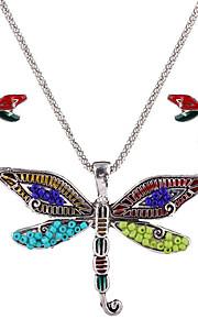 kan polly europa og USA personlighed insekt dragonfly vedhæng halskæde øreringe sæt