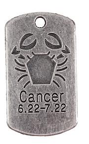 10stk nye legering dele tolv konstellation kræft firkantede tilbehør