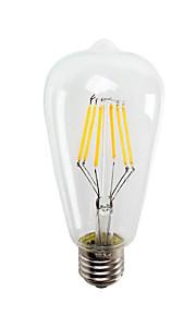 6W E26/E27 LED-gloeilampen ST64 6 COB 550LM lm Warm wit / Koel wit Decoratief V 1 stuks