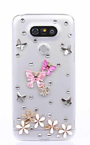 Capa traseira Strass Desenhos 3D PC Duro Case Capa Para LG LG K10 / LG K7 / LG K4 / LG G5 / LG G4 / LG G3 / LG V10