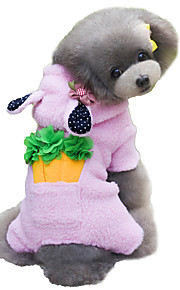Dog Coat / Hoodie Brown / Pink / Gray Winter / Spring/Fall Solid / Animal Cosplay / Fashion, Dog Clothes