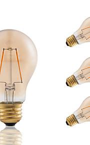 2 E26/E27 LED лампы накаливания A60(A19) 2 COB 180 lm Янтарный Регулируемая / Декоративная AC 110-130 V 4 шт.