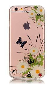 Bakdeksel IMD / Ultratynn / Bisque Blomsternål i krystall TPU Myk Tilfelle dekke for AppleiPhone 6s Plus/6 Plus / iPhone 6s/6 / iPhone