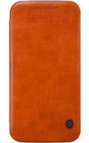 Hel kropp Korthållare / Stötsäker / Flip / Ultratunn Solid Färg Genuine Leather Hård Fallet täcker för MotorolaMoto X Play / MOTO X Style
