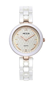 kezzi new design white color ceramics lady watch 1445