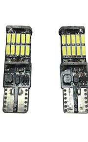 2pcs 20w vw golf lampe LED de plaque d'immatriculation peut-bus sans erreur or résistance lampe led largeur lampe led interiror