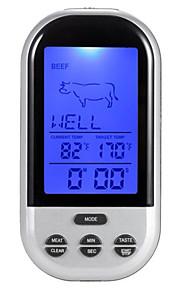 trådlös fjärrkontroll kök mat elektronisk termometer (temperatur mätområde: 0 ~ 250 (℃))