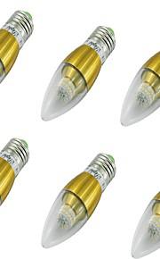 5 E14 LED-lysestakepærer CA35 50 SMD 3014 500 lm Varm hvit Dekorativ AC 85-265 / AC 220-240 / AC 100-240 / AC 110-130 V 6 stk.