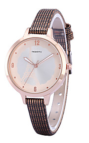 Women's Simple Fashion Tower Dial PU Leather Strap Quartz Wrist Watch