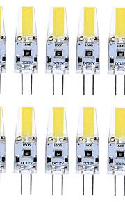 10PCS G4 1505 COB 400-500LM Warm White/Cool White/Natural White Decorative / Waterproof DC12V  LED Bi-pin Lights