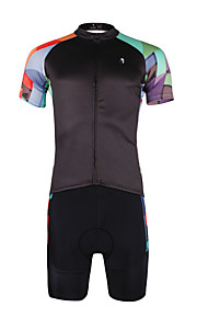 Breathable Paladin Summer Male Short Sleeve Cycling Jerseys Suit 100% Polyester DT662 Colored Squares