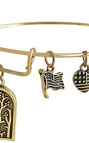 damemode dejlige brev mønster gyldne kobber armbånd