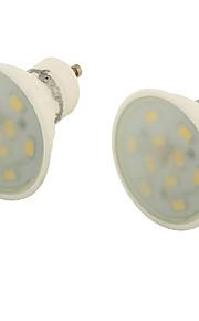 5 GU10 LED-spotpærer MR16 10 SMD 5730 400 lm Varm hvit Dekorativ AC 85-265 V 2 stk.