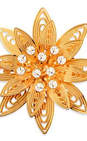 høj kvalitet blomst broche 18k forgyldt krystal sikkerhedsafbryder broche for kvinder bryllup og fest gave x30015