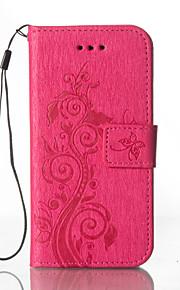 Full Body Wallet / Korttipaikka / telineellä / Embossed Kukka Tekonahka Kova Tapauksessa kattaa Samsung Galaxy Grand Prime