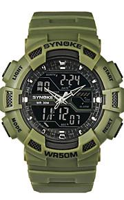 Masculino Relógio Esportivo / Relógio de Moda Quartz / Digital LCD / Impermeável / Cronômetro / Noctilucente PU Banda CasualPreta /