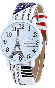 Girl Quartz Watch Clock Women Leather Casual Dress Women's Eiffel Tower Wristwatch Cool Watches Unique Watches