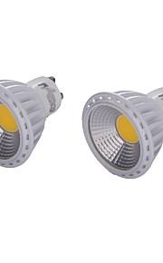 6 GU10 LED-spotpærer MR16 1 COB 450 lm Varm hvit / Kjølig hvit Dekorativ AC 220-240 / AC 110-130 / AC 85-265 V 2 stk.