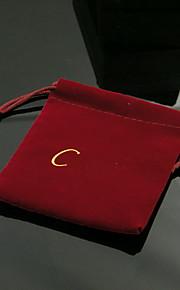 Smykketasker Stof 1pc Sort / Rød / Grøn