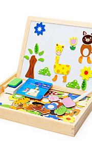 dyr scener stave legetøj træ børn tegneserie stereo puslespil bord