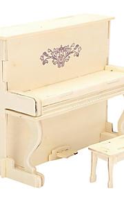 puslespil 3D-puslespil / Træpuslespil Byggesten DIY legetøj Piano Træ Guld Model- og byggelegetøj