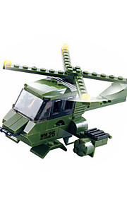 Building Blocks For Gift  / War Chariot / Helicopter Education Toys For Boys 389pcs Plastic Green