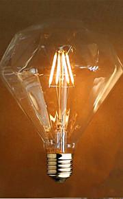 4 E26/E27 LED-glödlampor G125 4 SMD 5730 800 lm Gul Dekorativ AC 220-240 V 1 st