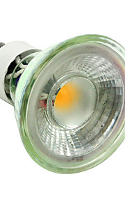 5W GU10 LED-spotpærer MR11 1 COB 500LM lm Varm hvit / Kjølig hvit Dimbar / Dekorativ AC220 V 1 stk.