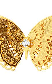 nye ankomst sommerfugl broche 18k ægte forgyldt fine smykker luksus sikkerhedsafbryder broche for kvinder gave x30013