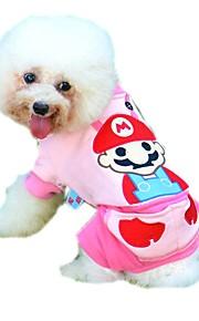 Gatos / Cães Casacos / Macacão / Calças Azul / Rosa Roupas para Cães Inverno / Primavera/Outono PersonagensDa Moda / Casual / Férias / A