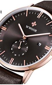 Masculino Relógio Elegante / Relógio de Pulso Quartz / Quartzo Japonês Calendário / Impermeável / Noctilucente Couro Legitimo Banda Casual