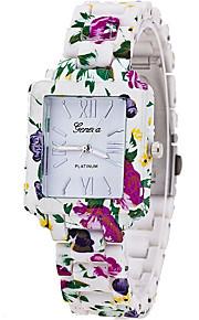Mulheres Relógio de Moda / Relógio de Pulso Quartz / Plastic Banda Legal / Casual Branco / Azul / Verde / Rose marca