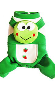 Dog Costume / Coat Green Dog Clothes Winter / Spring/Fall Cartoon Cute / Cosplay / Halloween / Christmas Lovoyager