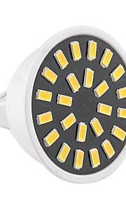 5W GU5.3(MR16) LED-spotpærer MR16 24 SMD 5733 400-500 lm Varm hvit / Kjølig hvit Dekorativ AC 220-240 / AC 110-130 V 1 stk.