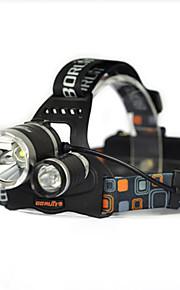 Belysning Pandelamper Forlygte stropper sikkerhedslys LED 10000 Lumen 1 Tilstand Cree XM-L T6 18650 Lygtehoved Super let