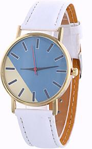 Mulheres Relógio de Moda / Relógio de Pulso Quartz / Couro Banda Legal / Casual Preta / Branco / Azul / Vermelho / Marrom / Bege / Rose