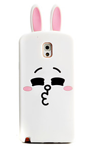 Rabbit Plane Pattern Phone Shell Silicone Material For Samsung Galaxy Note3 Note4 Note5 Note7