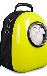 Cat / Dog Carrier Travel Backpack Bubble Pet Carrier Portable / Cute / Breathable Plastic / Oxford Green / Yellow / Rose