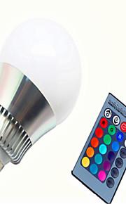 10 E14 / GU10 / E26/E27 Ampoules LED Intelligentes G80 1 LED Haute Puissance 450-500 lm lm RVB Gradable / Commandée à Distance AC 85-265 V